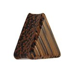 Wood Ear Plug - Triangle - Palm Wood - Dark