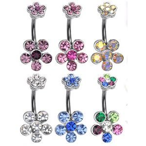 Bananabell Piercing - Flower - Crystal