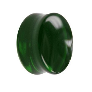 Glass Ear Plug - Green
