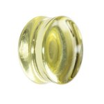 Glass Ear Plug - Yellow