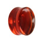 Glass Ear Plug - Orange