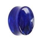Glass Ear Plug - Marble - Blue