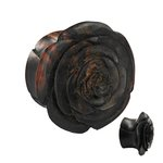 Wood Ear Plug - Rose - Dark Brown