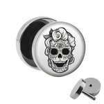 Picture Fake Plug - Skull - Woman