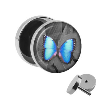 Picture Fake Plug - Butterfly