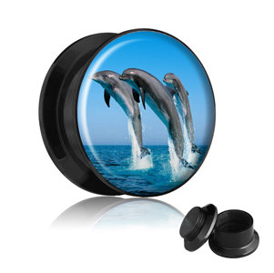 Picture Ear Plug - Screw - Dolphin
