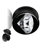 Picture Ear Plug - Screw - Diamond