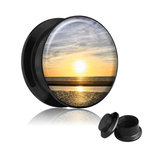 Picture Ear Plug - Screw - Sunset