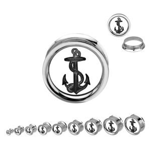 Picture Ear Plug - Steel - Mirror - Anchor