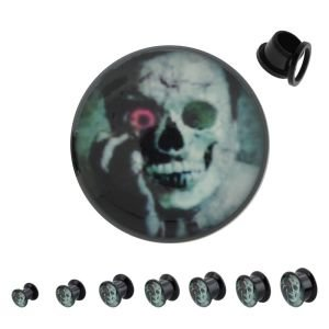 Picture Ear Plug - Black - Woman - Horror
