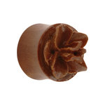 Shape Ear Plug - Wood - Orchid
