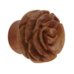 Shape Ear Plug - Wood - Rose - Brown