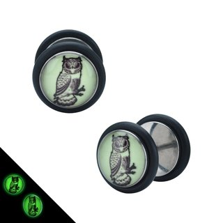 Picture Fake Plug - Glow in the dark - Owl