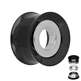 Flesh Tunnel - Steel - Ring - Silver