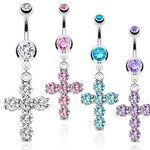 Bananabell Piercing - Crystal - Cross