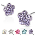 Ear Stud - Flower - Crystal