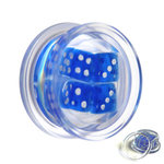 Ear Plug - Acrylic - Dices - Blue