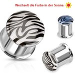 Ear Plug - Steel - Zebra - Color Change