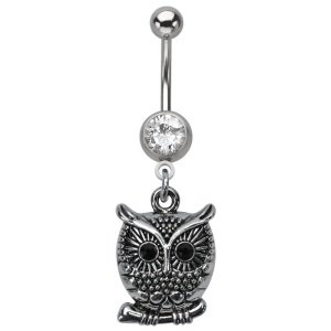 Bananabell Piercing - Crystal - Owl