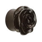 Shape Ear Plug - Wood - Rose - Black