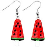 Dangle Earrings - Ice Cream - Melon