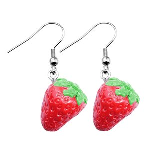 Dangle Earrings - Strawberries