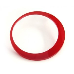 Flesh Tunnel Hoop Earring - Round - Red