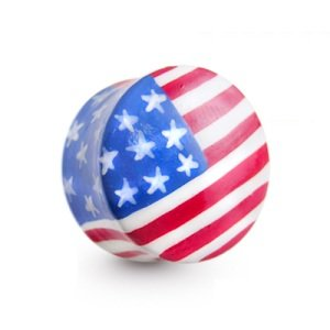 Horn Ear Plug - Flag - USA