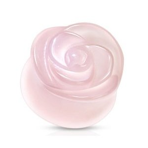Stone Ear Plug - Rose - Rose Quartz