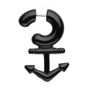 Fake Spiral - Acrylic - Anchor - Black
