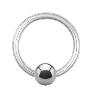 Ball Closure Ring - Titanium - Silver - 0.8mm