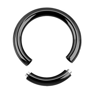 Segement Ring - Steel - Black - 1.6mm