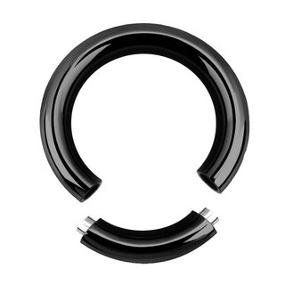 Segement Ring - Steel - Black - 2.0mm to 6.0mm