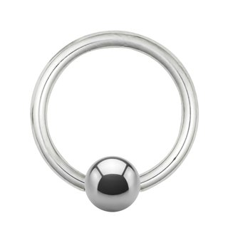 Ball Closure Ring Steel Silver 1 0mm