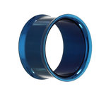 Double Flare Flesh Tunnel - Steel - Blue