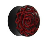Horn Ear Plug - Rose - Red