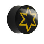Ear Plug - Horn - Star - Yellow