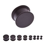 Silicone Ear Plug - Black - 14 mm