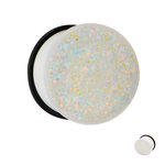 Ear Plug - White - Single Flare - Glitter - 8 mm