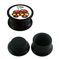 FTS - Picture Ear Plug - Cherry Skulls