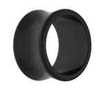 Classic Flesh Tunnel - Black - 6 mm