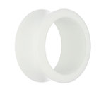 Classic Flesh Tunnel - White - 6 mm