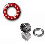 Image Ear Flesh Tunnel - Star - Red-White
