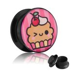 Picture Ear Plug - Screw - Capcake - 4 mm