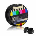 Picture Ear Plug - Screw - Test Card - 18 mm
