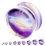 Silhouette Ear Plug - Galaxy - 6 mm