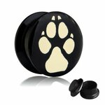 Picture Ear Plug - Screw - Paw - 5 mm