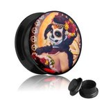 Picture Ear Plug - Screw - La Catrina - Orange - 14 mm