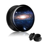 Picture Ear Plug - Screw - Galaxy - 8 mm