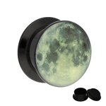 Picture Ear Plug - Screw - Moon - 8 mm